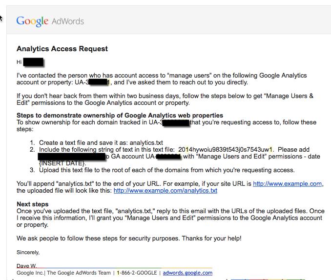 Reclaim Google Analytics profile